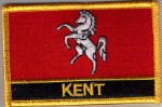 Kent Embroidered Flag Patch, style 09.